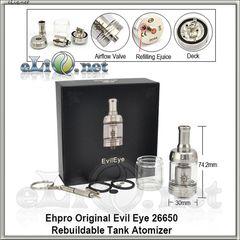 [EHPRO] Original Evil Eye Rebuildable Tank Atomizer (Обслуживаемый атомайзер, оригинал)