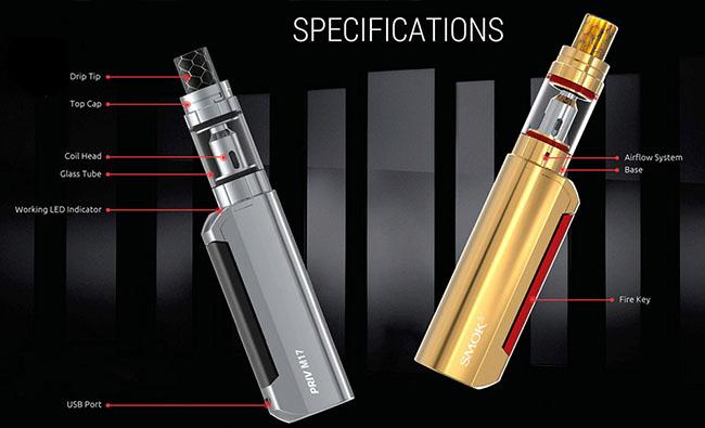 Smok Priv M17 на 60W стартовый набор электронная сигарета