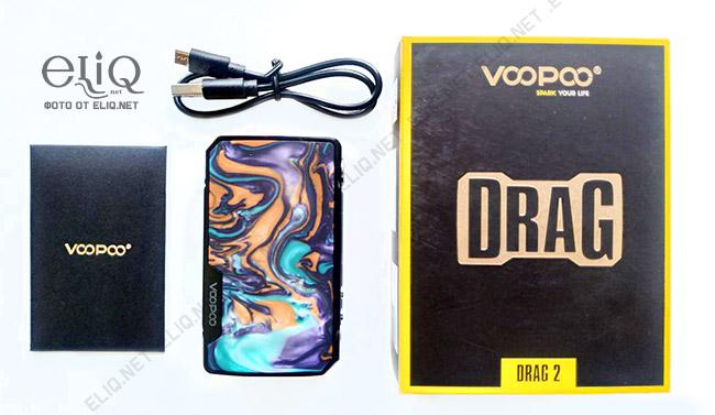 Комплектация бокс-мода VooPoo Drag 2 изображение Элик