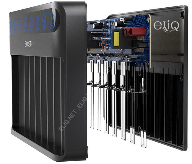 зарядное устройство Efest LUSH v8 строение фото