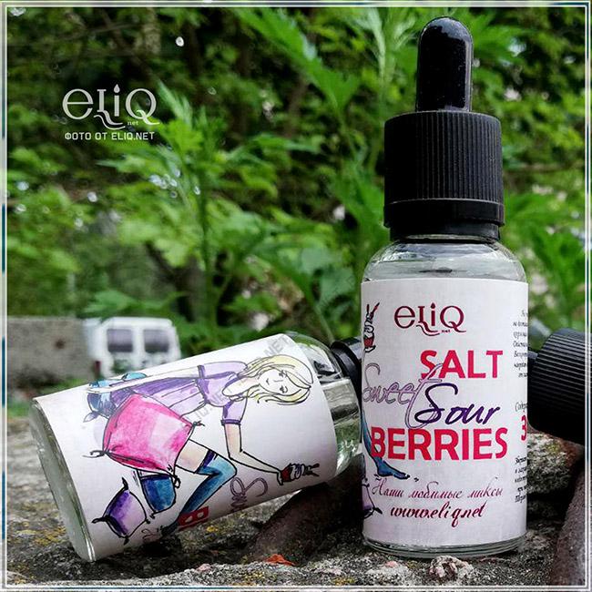 Жидкость на солевом никотине для заправки электронной сигареты Элик Sweet Sour Berries фото